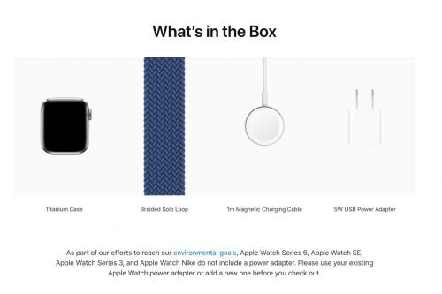 Apple is still bundling a power adapter with new Apple Watch Edition and Hermès