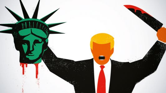 How one illustrator took aim at Trump - and went viral