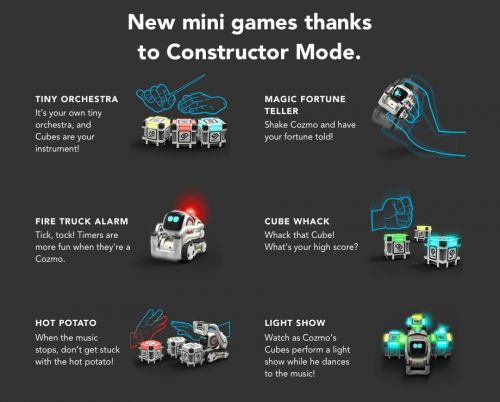 Anki's Cozmo Robot Updated With Code Lab Constructor Mode