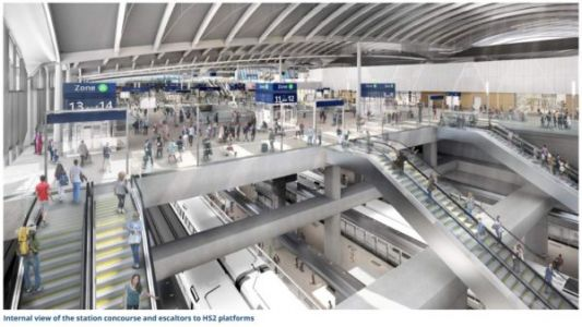 First images of HS2's Old Oak Common station shown off