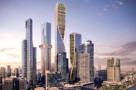 Spectacular twisting tower aims to become Australia's tallest building