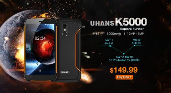 UHANS K5000 IP68 Rugged Phone: 3 Reasons You Should Get One