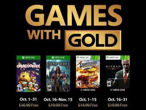 New Xbox One Games With Gold Are Free For October