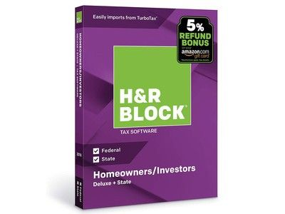 H&R Block's discounted tax software includes a bonus on your refund