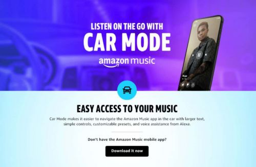 Amazon Prime Music App Gets Car Mode For Easier Use While Driving