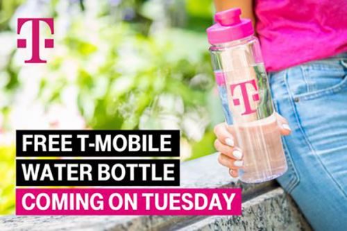 Next week's T-Mobile Tuesday gifts will include a T-Mo water bottle