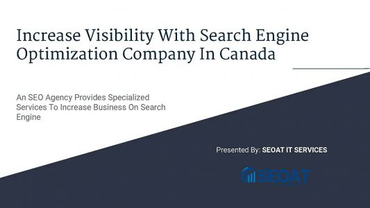 Increase Visibility With Search Engine Optimisation Company In Canada