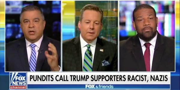 Trump's former deputy campaign manager told a black panelist on 'Fox & Friends' that he was 'out of his cotton-picking mind'