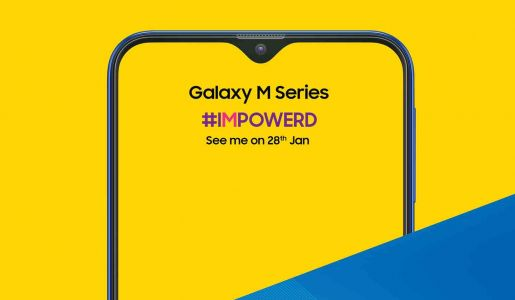 Samsung teases Galaxy M with teardrop notch and large battery