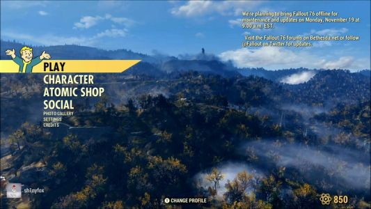 Fallout 76 gets first update on Monday, servers offline at 9 AM EST