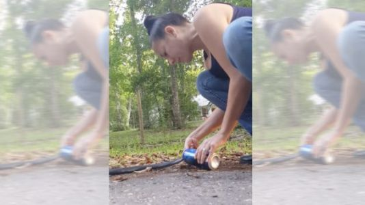 Watch: Florida Woman Rescues Snake Stuck in a Beer Can