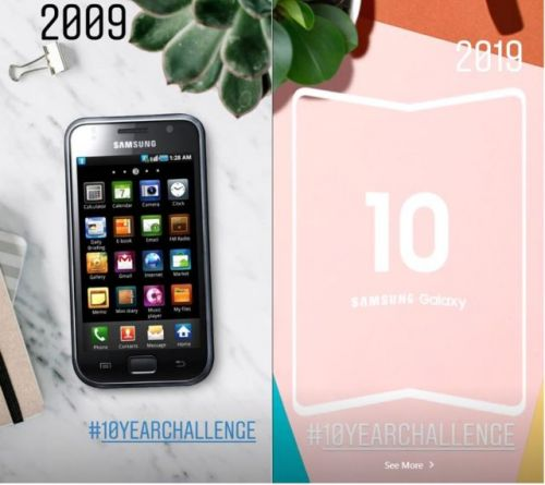 Samsung joins in on the 10YearChallenge fun, teasing its foldable smartphone