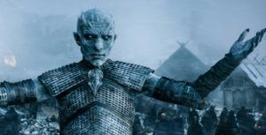 The Night King from HBO's Game of Thrones uses a Chromebook