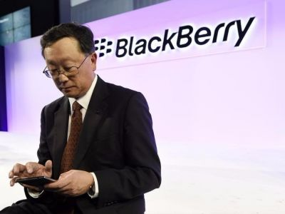 Blackberry is sinking after turning a profit only because of its big arbitration win against Qualcomm