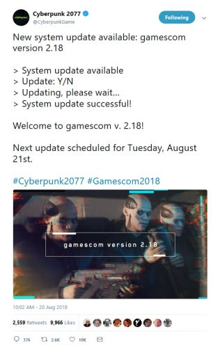 Cyberpunk 2077 Update Announced for This Week