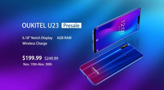 Notched OUKITEL U23 gets to presales today for $199.99