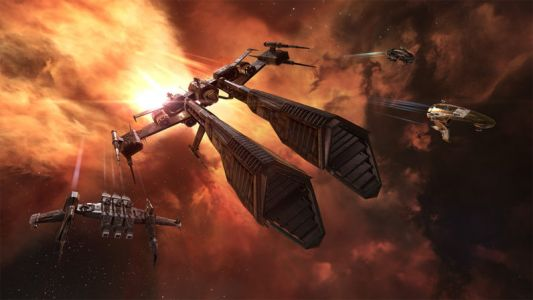 A million-dollar space battle is happening now. in a video game