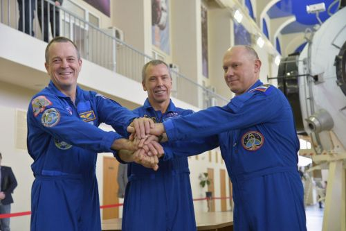 Watch three astronauts launch to the International Space Station this afternoon