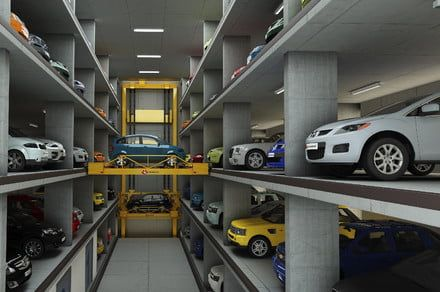 With this robotic garage, retrieving your car is like using a vending machine