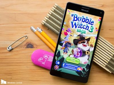 Burst an evil cat's hopes with Bubble Witch 3 Saga