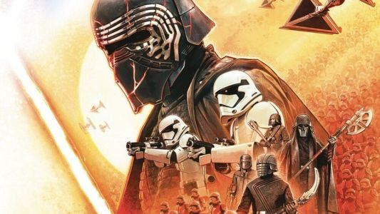 Poster Art for STAR WARS: THE RISE OF SKYWALKER Shows Off Kylo Ren's Repaired Helmet and The Knights of Ren