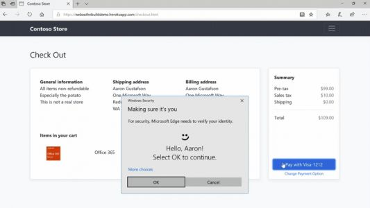 Microsoft Edge will finally ditch passwords in favor of more secure biometrics