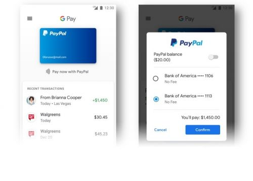 PayPal now available with Google Pay across a number of new Google services