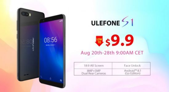 $9.99 Ulefone S1 Presales Kick Off Starting on August 20th