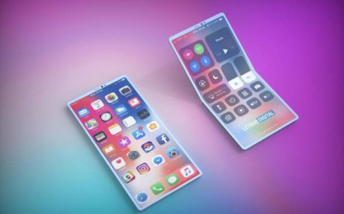 Apple foldable iPhone patent bends both ways