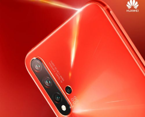 Huawei nova 5 Pro official poster appears online with quad rear camera & coral orange color