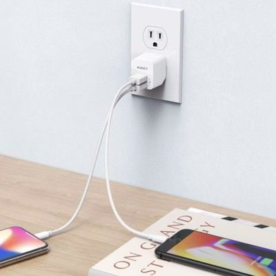 Charge anywhere with the $6 Aukey ultra compact USB wall charger