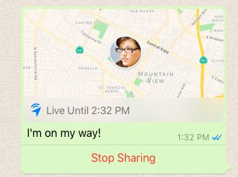 WhatsApp joins other messaging platforms with live location sharing