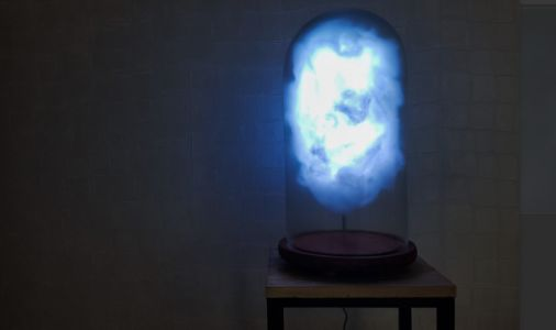 This storm cloud lamp erupts with lightning every time Donald Trump tweets