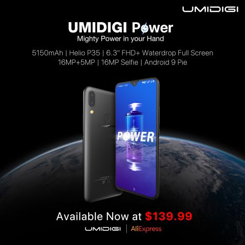 Samsung Galaxy M20 Killer? UMIDIGI Power Global Sale Kicks Off at $139.99