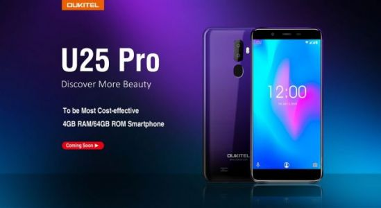 New cheap OUKITEL U25 Pro with gradient colors coming soon for $99.99