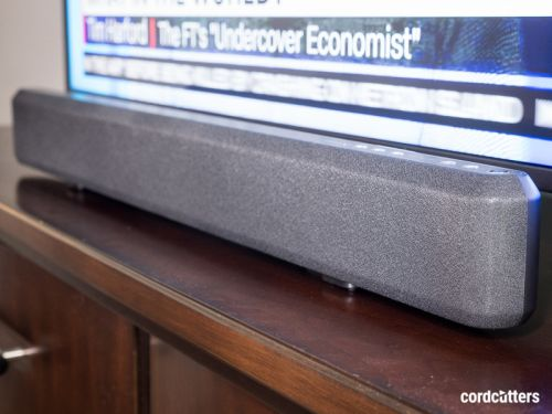 Amazon Basics sound bar is basic, and not bad