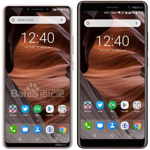 "Nokia 9 (2018)/8 Pro hand-sketched render posted in China sporting the ""notch"""