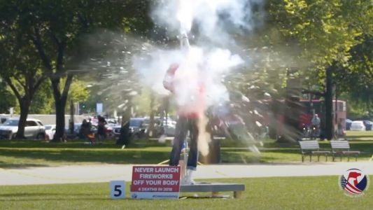 Fireworks Safety Video Features Test Dummies in Dangerous and Deadly Scenarios
