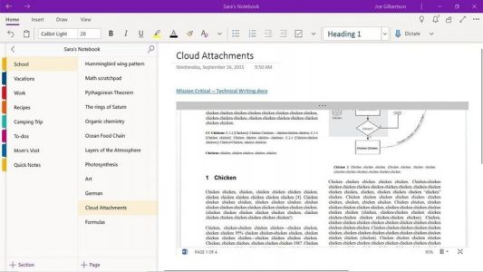 OneNote picking up cloud attachments, tag search, and more this month