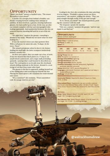 The Mars Rover Opportunity Can Live On - In Your D&D Game
