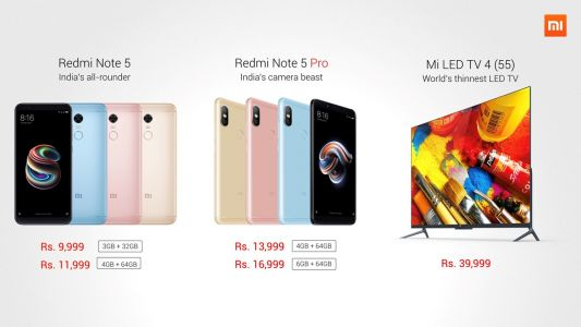 Xiaomi begins its year with the launch of Redmi Note 5, Note 5 Pro and Mi LED TV 4 in India