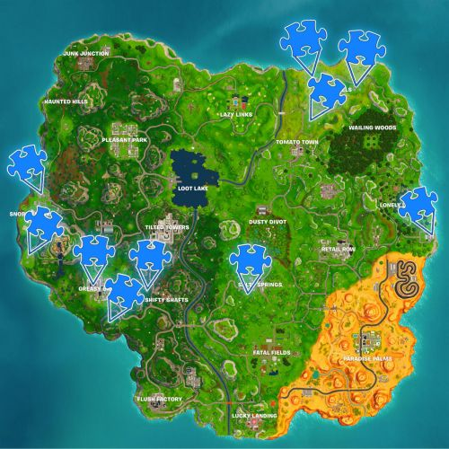 Fortnite Challenge Guide: Jigsaw Puzzle Piece Locations