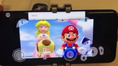 Watch GameCube games being played on a Samsung Galaxy S8