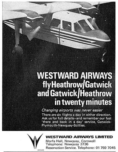 50 years ago - planes start flying between Heathrow and Gatwick