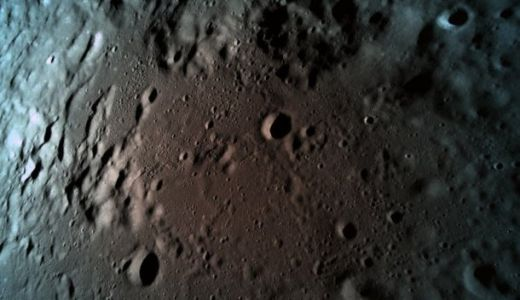 This is the last photo Israel's Beresheet lunar lander captured before it was smashed into oblivion