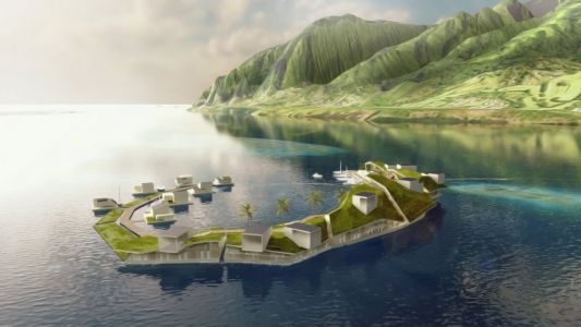 Billionaire Peter Thiel helped fund plans to build the world's first floating city - take a look at the designs