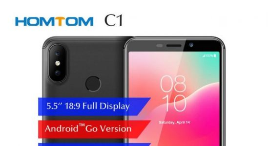 HOMTOM C1 with Android Go available in presales for only $64.99