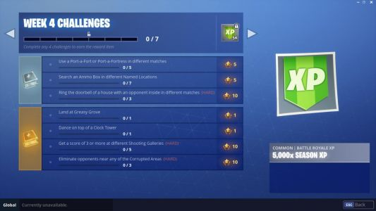 Fortnite Week 4 Challenge List: Shooting Galleries, Dance On Clock Tower, And More