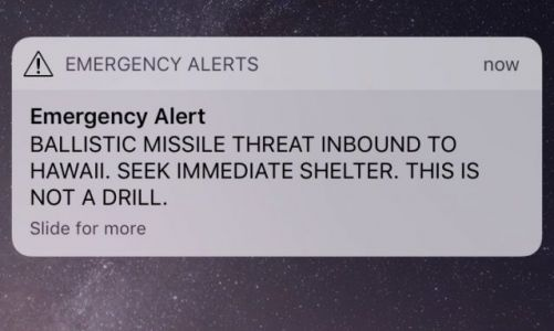 Hawaii missile alert on smartphones was false alarm - CNET