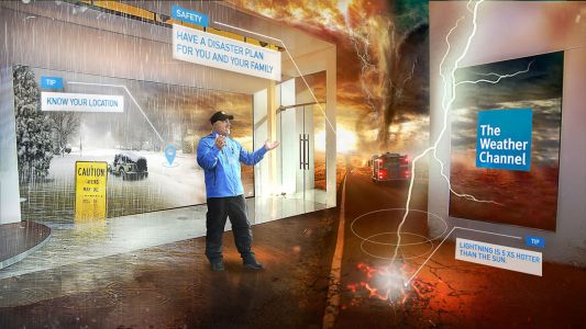 The Weather Channel's mixed reality tornado lesson was actually fun